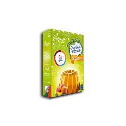 Gelatina 100% Vegetal - Pêssego
